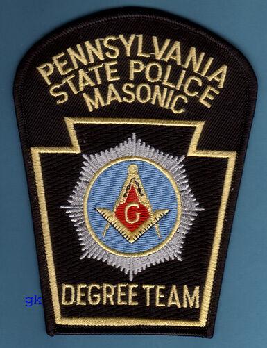 PENNSYLVANIA STATE POLICE MASON MASONIC DEGREE TEAM SHOULDER PATCH