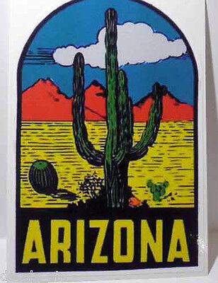 Arizona Vintage Style Travel Decal / Vinyl Sticker, Luggage Label