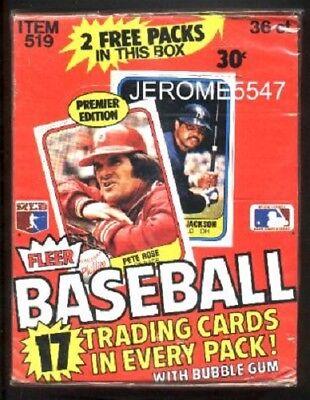 1981 FLEER Baseball  Wax Card Box PREMIER EDITION Box 38 Packs UNOPENED #cs2Rk1L 1981 Fleer Baseball Card