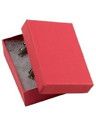 Jewelry Boxes 50 21 Red Matte Finish Cotton Filled Retail Gift 2 X 1 X 78
