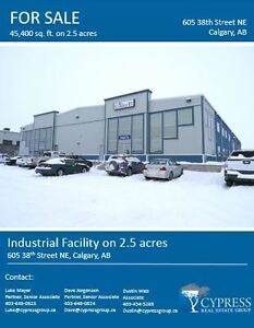 Industrial Warehouse with Yard For Sale in Crossfield (or lease)