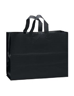 Frosty Plastic Bags Shopping Black Frosted 16 X 6 X 12 100 Gift Merchandise