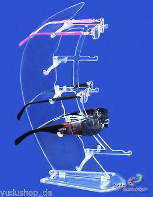 Acryl Brillenständer Brillenpräsenter  für 5 Brillen