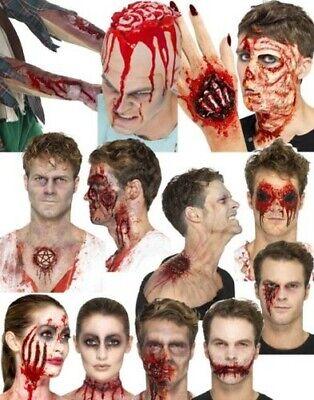 Halloween Latex Prothetische Wunde Set Blut Make-Up Zombie Kostüm Zubehör