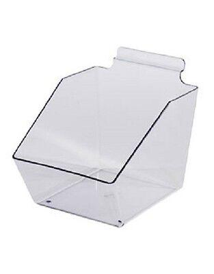 10 Slatwall Bins Dump Acrylic Clear 7 L X 6 W X 5 Plastic Retail Display