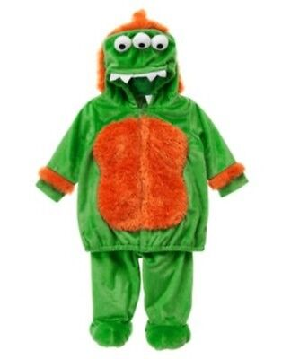 GYMBOREE HALLOWEEN GREEN MONSTER 2-PC COSTUME 3 6 12 18 2T 3T - 3t Halloween Costumes