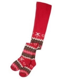 About gymboree winter cheer red fair isle tights 0 6 12 24 2t 3t nwt