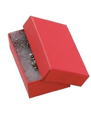 Jewelry Boxes 50 32 Red Matte Finish Cotton Filled Retail Gift 3 116 X 2 18