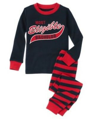 GYMBOREE SLEEPWEAR VALENTINES DAY BACHELOR 2pc PAJAMAS 6 12 18 3 4 5 6 8 10 12 (Valentines Pjs)