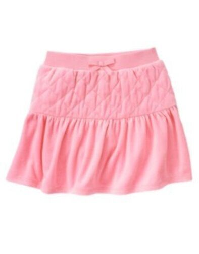GYMBOREE PARISIAN CHIC PINK QUILTED BOW VELOUR SKORT 3 4 5 6 7 8 9 10 12 NWT