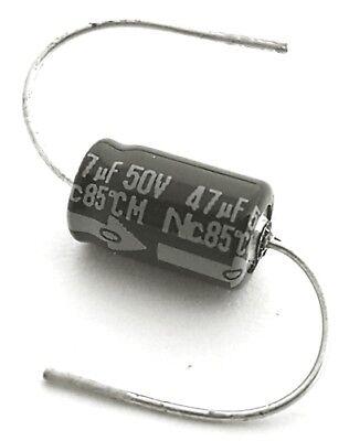 47uf 50v 20 Axial Aluminum Electrolytic Capacitor Nippon Nsa 20 Pcs