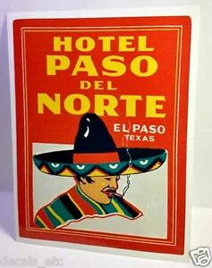 El-Paso-Texas-Hotel-Vintage-Style-Travel-Decal-Vinyl-Sticker-Luggage-Label