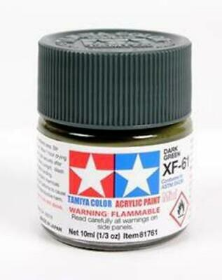 Tamiya 81761 Acrylique Modèle Peinture XF-61 Vert Foncé 10ml Pot T48 Après