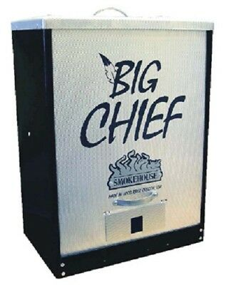 NEW Smokehouse Big Chief 9894-BLACK Tuff-Coat Electric Front Load Meat Smoker