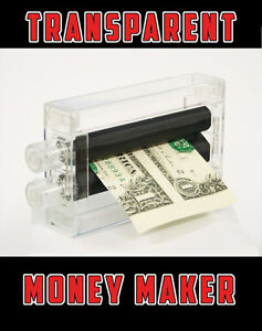 MAGIC MONEY MAKER PRINTER Toy Trick Dollar Bill Machine Changes Beginner Joke