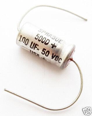 100uf 50v Axial Electrolytic Capacitors Vintage 30 Pc Lot 500d107m050dc2a