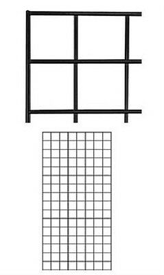 Gridwall Panels 2 X 4 Set Of 2 Grid Wall Display Black Panel Steel Powder Coat