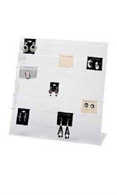 2 Earring Display Countertop Racks Card Acrylic 15 X 15 100 Black Cards
