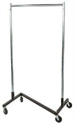 Clothing Clothes Rack Z-truck Rolling Locking Casters 68 X 36 Single Rail