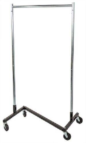 "Clothing Clothes Rack Z-Truck Rolling Locking Casters 68"" x 36"" Single Rail"