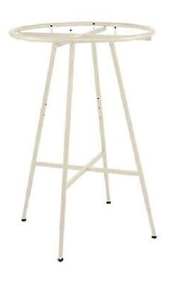 Ivory 36 Round Clothing Rack Height 48 - 72 H Leveler Glides Garment