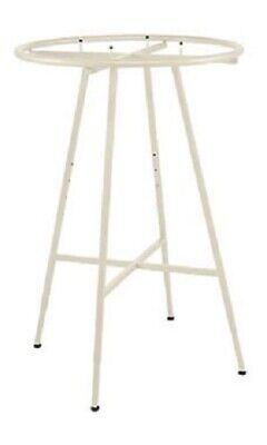 Ivory 36 Round Clothing Rack Height 48 - 72 H Leveler Glides Garment