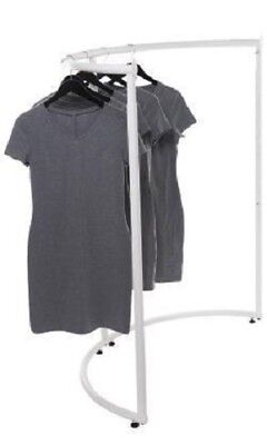 Half Round Clothing Rack White Garment 37 12 X 55 Retail Display Circular