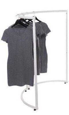 Half Round Clothing Rack White Garment 37 12 X 55 Retail Display Circular