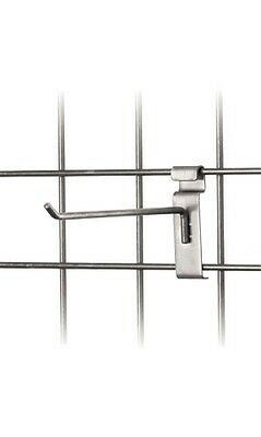 8 Wire Slat Grid Hooks Hook Pegs Gridwall 100 Raw Steel Retail Display Gray