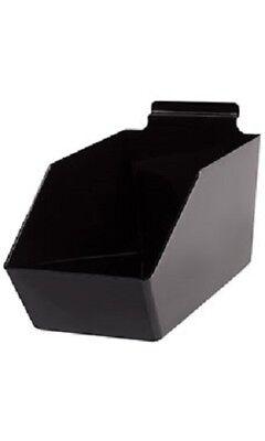 Dump Bins For Slatwall Black Set Of 6 Plastic Slat Wall Display 6 X 11 X 5