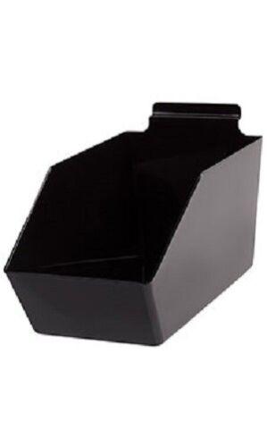 """Dump Bins For Slatwall Black Set of 10 Plastic Slat Wall Display 6"""" x 11 ½"""" x 5"""