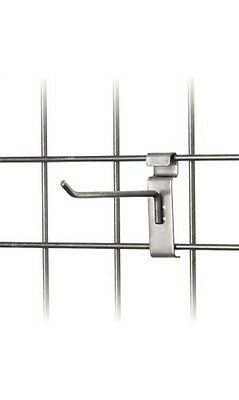 6 Wire Slat Grid Hooks Hook Pegs Gridwall 100 Raw Steel Retail Store Display