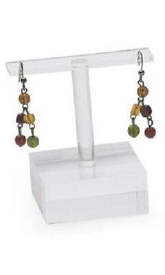 12 Acrylic Earring Displays 2  X X 2 78 T-bar Showcase Pierced Retail