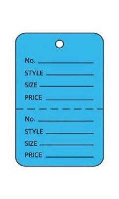 100 Perforated Tags Price Sale 1 X 1 Two Part Merchandise Blue Tag