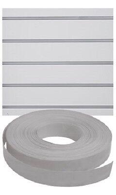 Vinyl Inserts Slatwall Panel Gray Shelving Display 130 Ft 3 Rolls 390 Feet