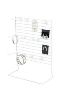 2 Countertop Peg Displays Wire Rack Jewelry Card Hanging White Stand 12 X 15
