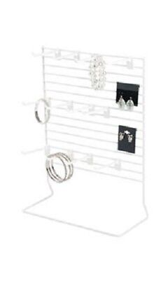 Earring Carded Countertop Peg Displays Wire Rack Jewelry Card White 12 X 15