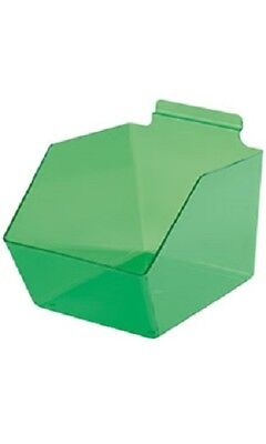 Dump Bins For Slatwall Green Set of 6 Plastic Slat Wall Disp