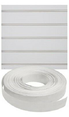 Vinyl Inserts Slatwall Panel White Shelving Display 130 Ft 6 Rolls Decorative