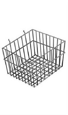 6 Gridwall Wire Baskets Black Grid Slatwall Pegboard 12 X 12 X 8 Powder Coat