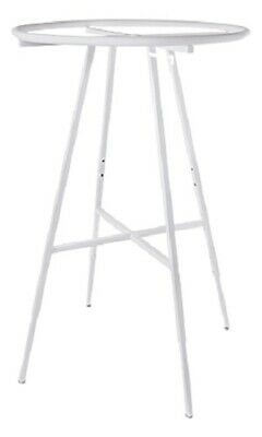 White 36 Round Clothing Rack Height 48 - 72 H Leveler Glides Garment
