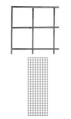 Gridwall Panels 2 X 6 Set Of 4 Grid Wall Wire Display Chrome Panel Steel