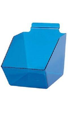 10 Slatwall Bins Dump Acrylic Clear Blue 7 X 6 X 5 Plastic Retail Display