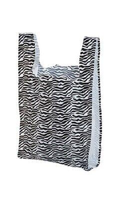 500 Plastic Shopping Bags Zebra T-shirt Grocery Merchandise 11 X 6 X 21