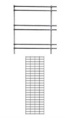 2 Slat Grid Panels 2 X 6 Screen Display Chrome Steel 3 Oc Wire Powder Coat