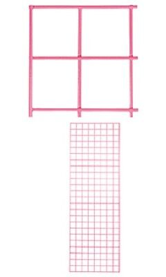 Wire Grid Panel 2 X 6 Set Of 2 Panels Hot Pink Retail Display Craft Gridwall