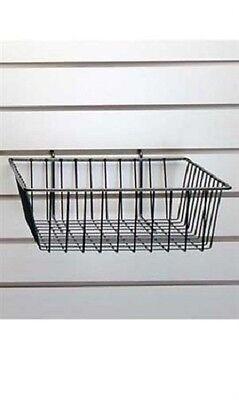 Lot Of 6 Wire Baskets Black 12 X 12 X 4 Grid Gridwall Slatwall Pegboard Wall