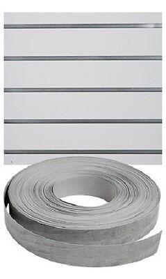 Vinyl Inserts Slatwall Panel Silver Shelving Display 130 Ft 6 Rolls Decorative