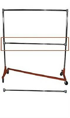 Clothing Garment Rack Z-truck Rolling Double Rail Osha Heavy Duty 400 Pounds