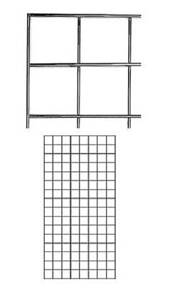 Set Of 2 Gridwall Panels 2 X 4 Grid Wall Display Chrome Panel Steel